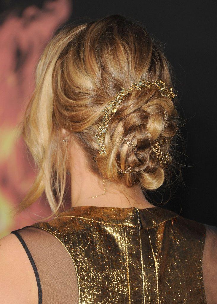 Jennifer Lawrence Gold Gown at Hunger Games Premiere   POPSUGAR Fashion