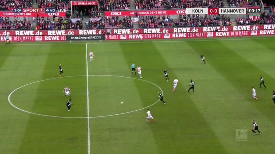 Pin on goals Bundesliga 17/18 FC Köln vs. Hannover 96