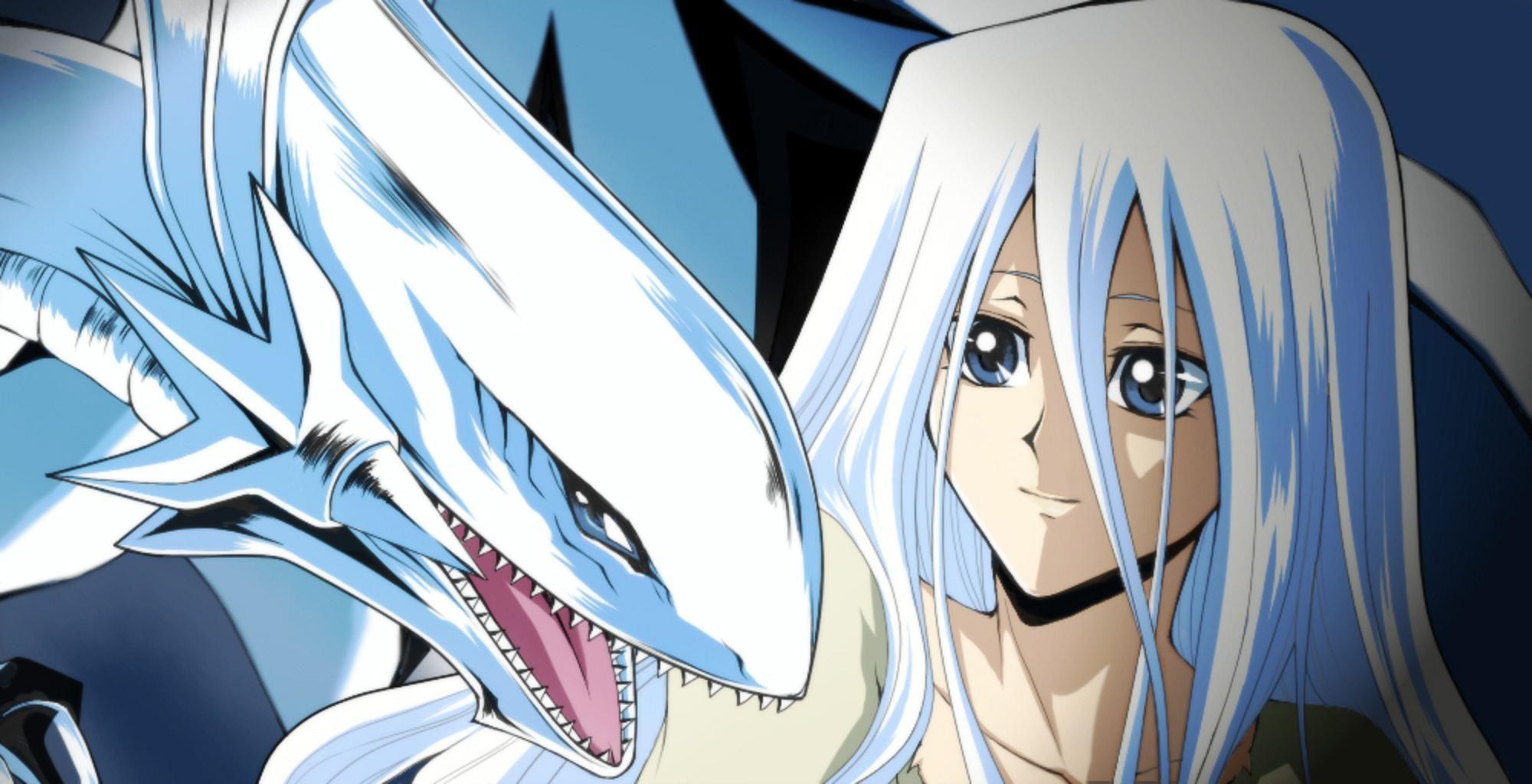 Blue Eyes White Dragon Wallpaper Http Wallpaperzoo Com Blue
