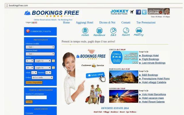Bookingsfree.com, commissioni più basse sulle prenotazioni #bookingengine #turismo