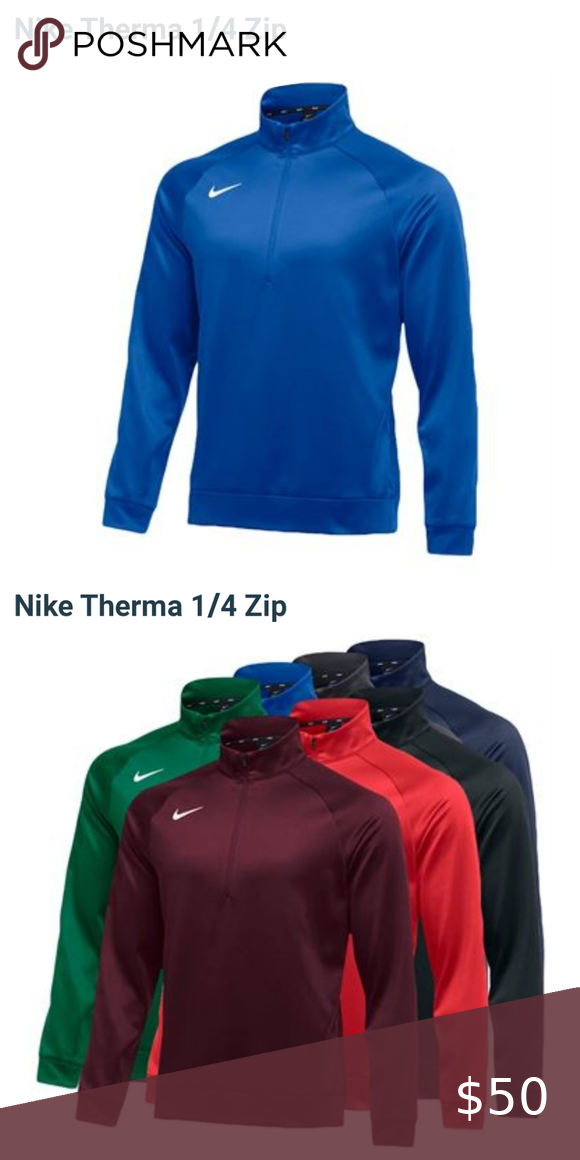 The Nike Therma 1 4 Zip Pullover In 2020 Performance Shirts Quarter Zip Pullover Pullover