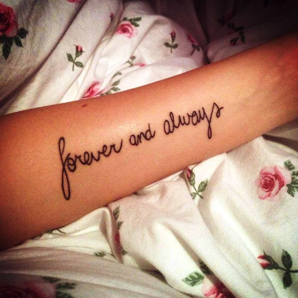 f35fdcfc8 Forever and always - Tattoo | TATTOO | Always tattoo, Forever ...