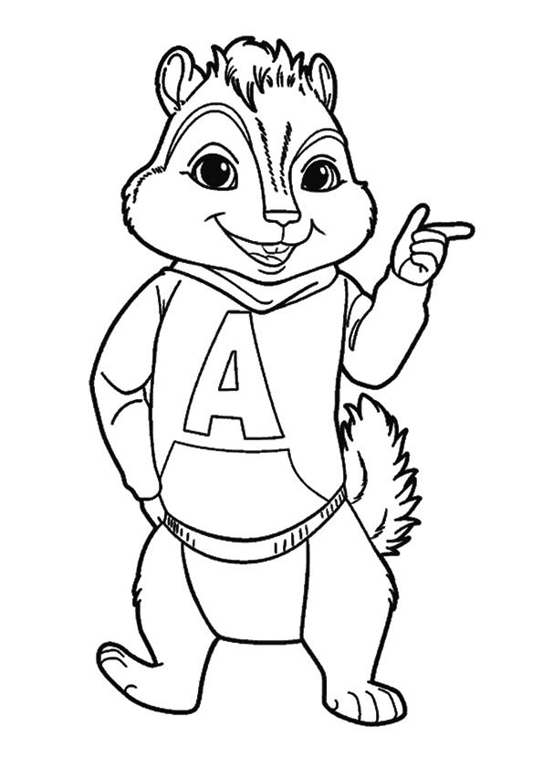print coloring image | Alvin, the chipmunks, Cool coloring ...