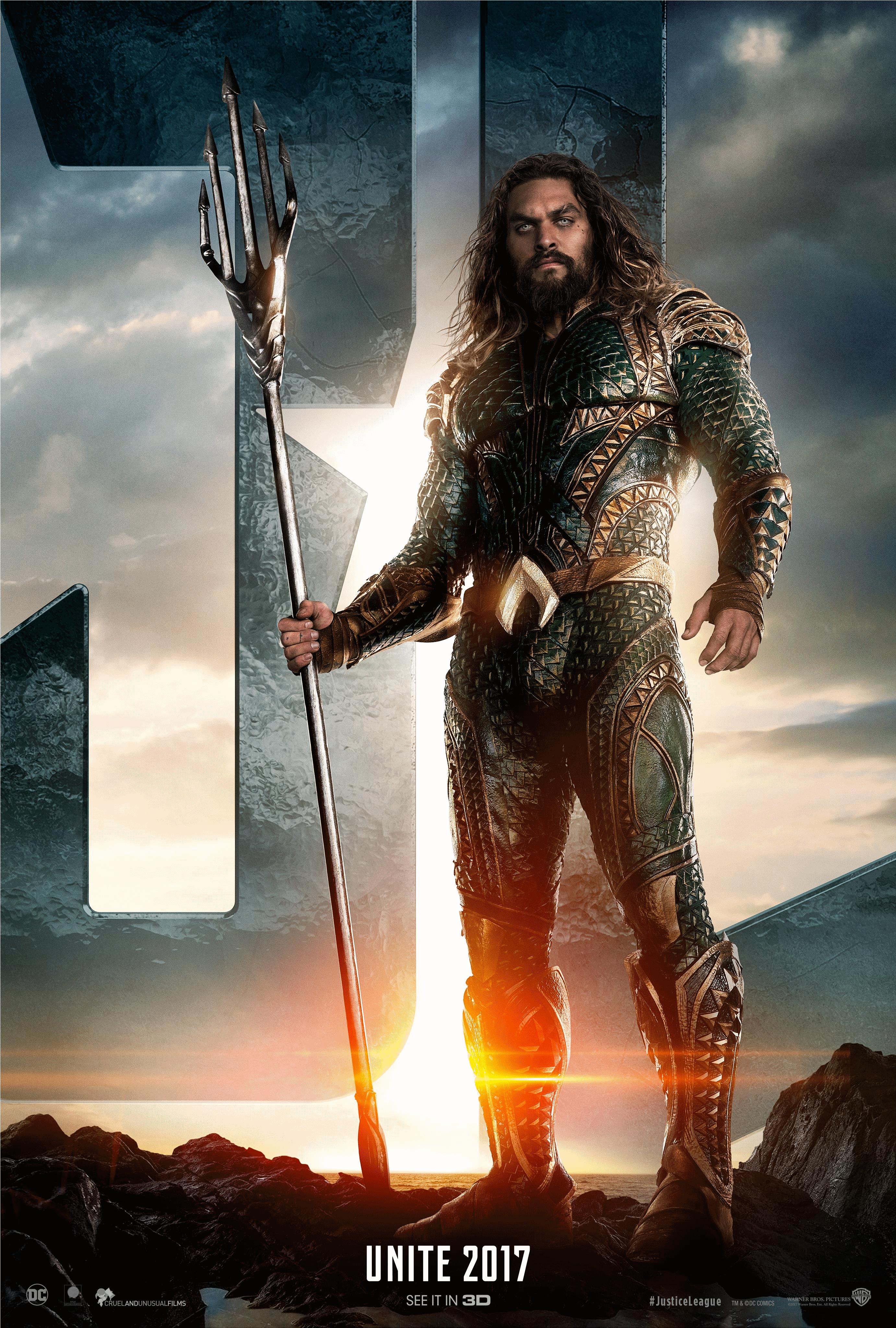 Jl Poster2 Png Justice League Aquaman Jason Momoa Movies Aquaman