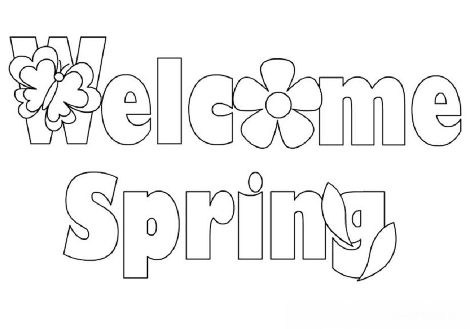 Welcome Spring Coloring Pages Spring Coloring Pages
