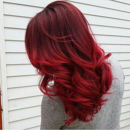 Lovely Blue Red Hair Color