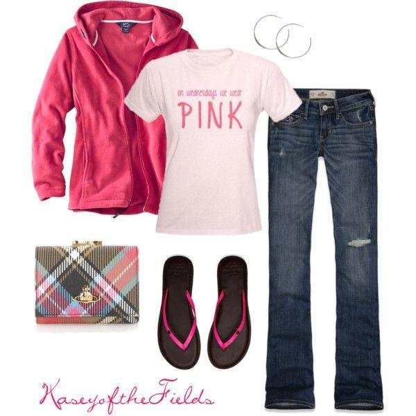 """Pink Wednesdays"" by kaseyofthefields on Polyvore"
