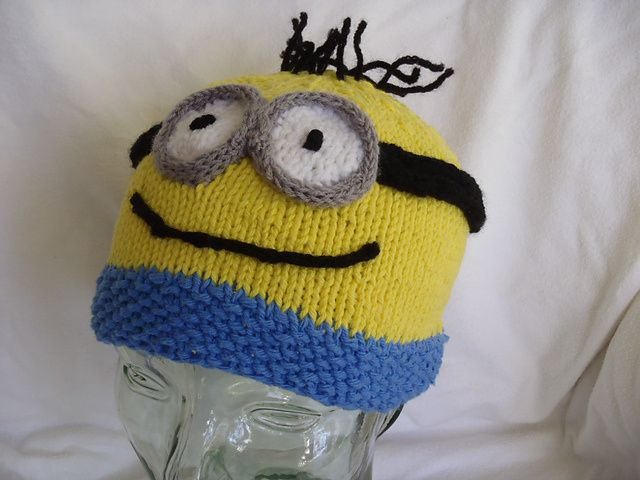 Free Knitting Pattern For Minion Hat From Stanas Critters Minion