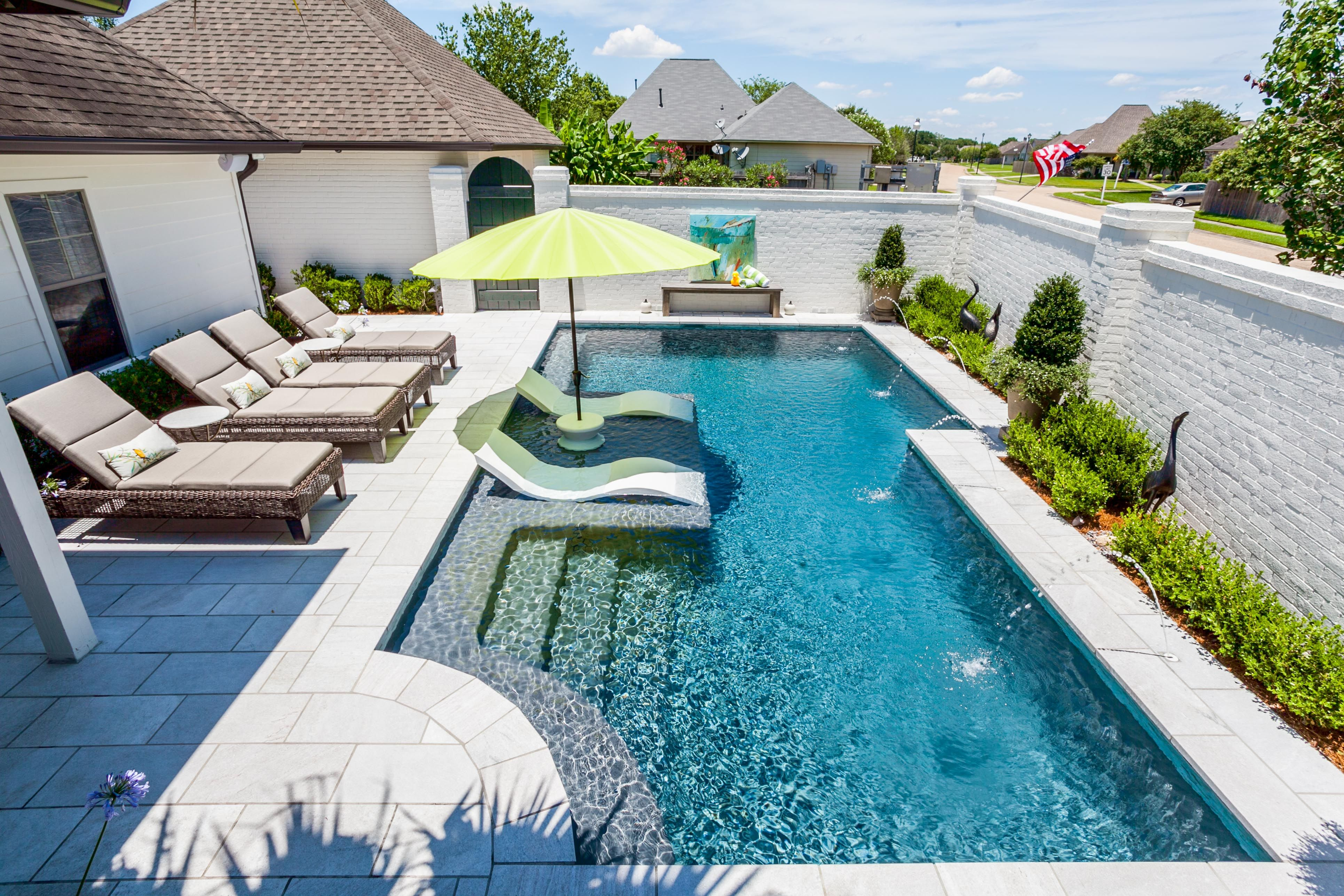 In Pool Furniture And Accessories By Ledge Lounger Stylish Furniture Designed For In Wa Backyard Pool Landscaping Small Backyard Pools Swimming Pools Backyard
