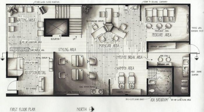 Portfolio By Nicole Elsholz At Coroflot Com How To Plan Rendered Floor Plan Floor Plan Design