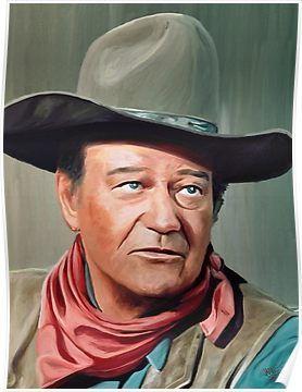 'John Wayne' Poster by artbyjames