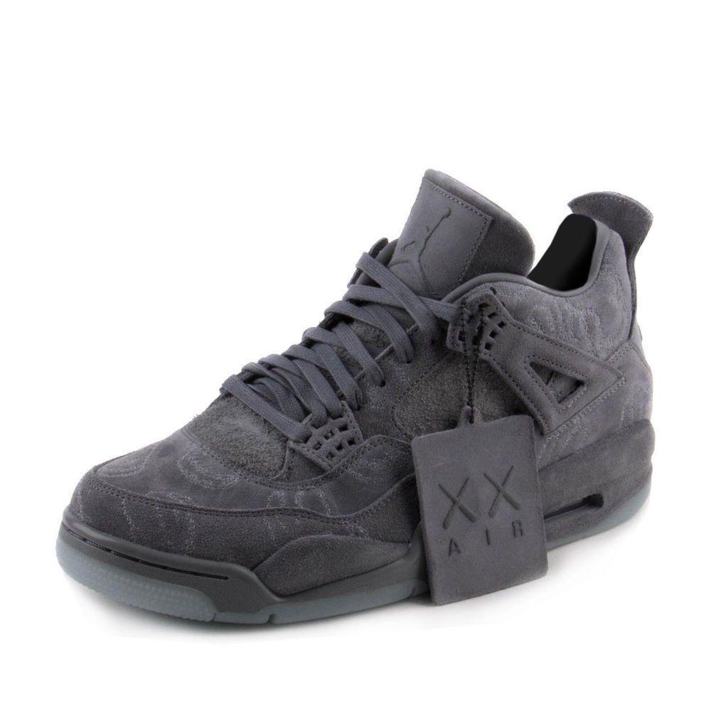 231256739ee2 Nike Mens Air Jordan 4 Retro KAWS Cool Grey White 930155-003  Nike  Baseball