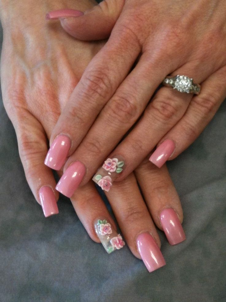 3D Flower Nail Designs | Flower nails, Flower nail designs and 3d ...
