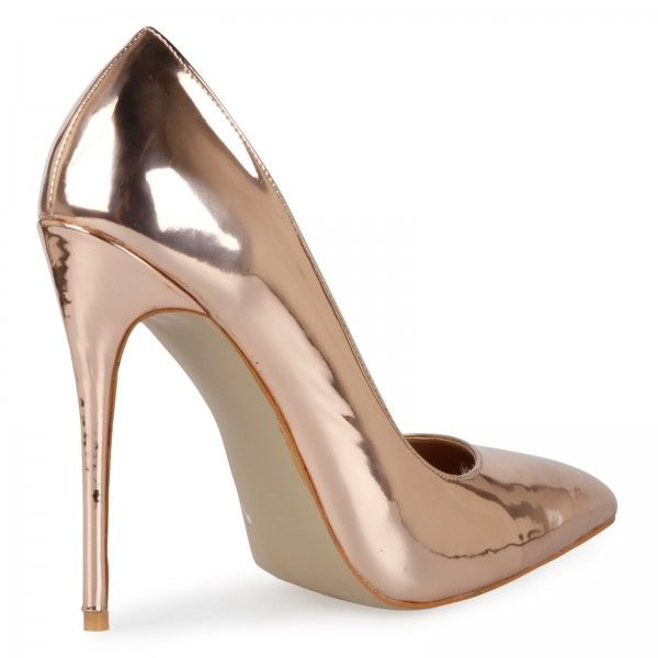 0e8480b3600 Jasmine Metallic Court Heels in Rose Gold | F yeah shoes | Court ...