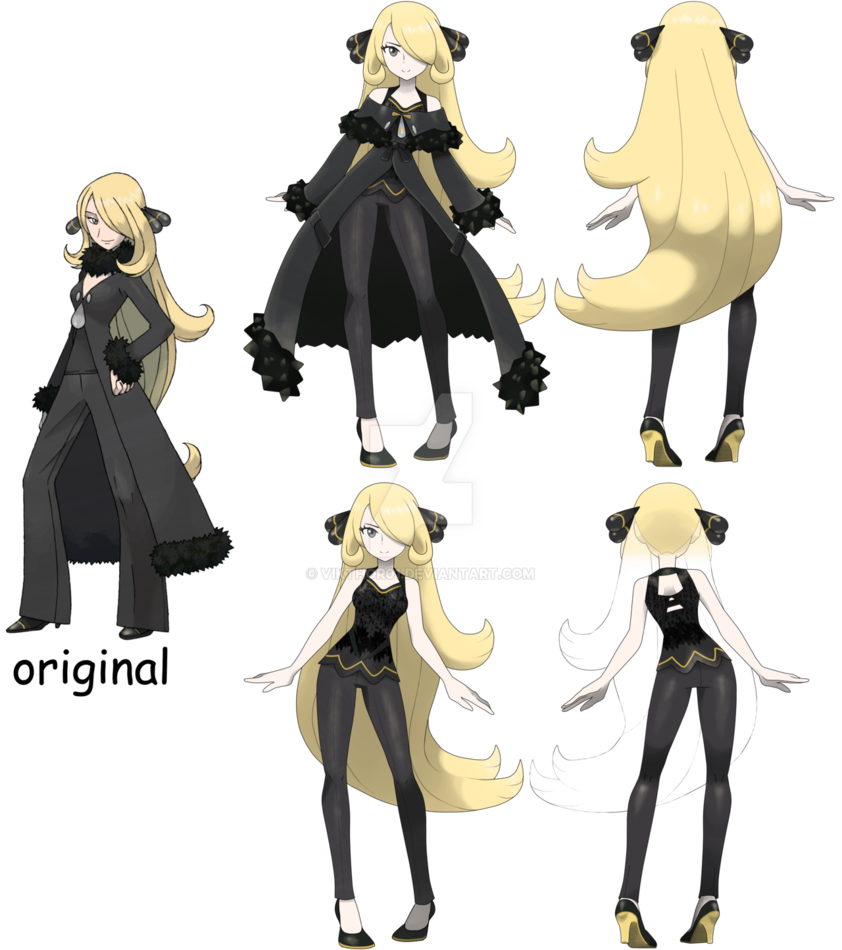 pokemon diamond pearl remake cynthia by vikthor01.deviantart on