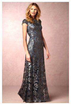 Tadashi Shoji Steel Blue Odette Dress