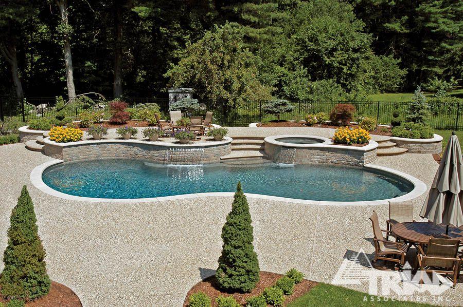 exposed aggregate concrete | triad associates | swimming pools