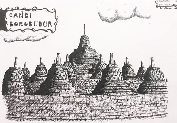 Borobudur Temple Sketch By Shimamura24deviantartcom On At Deviantart
