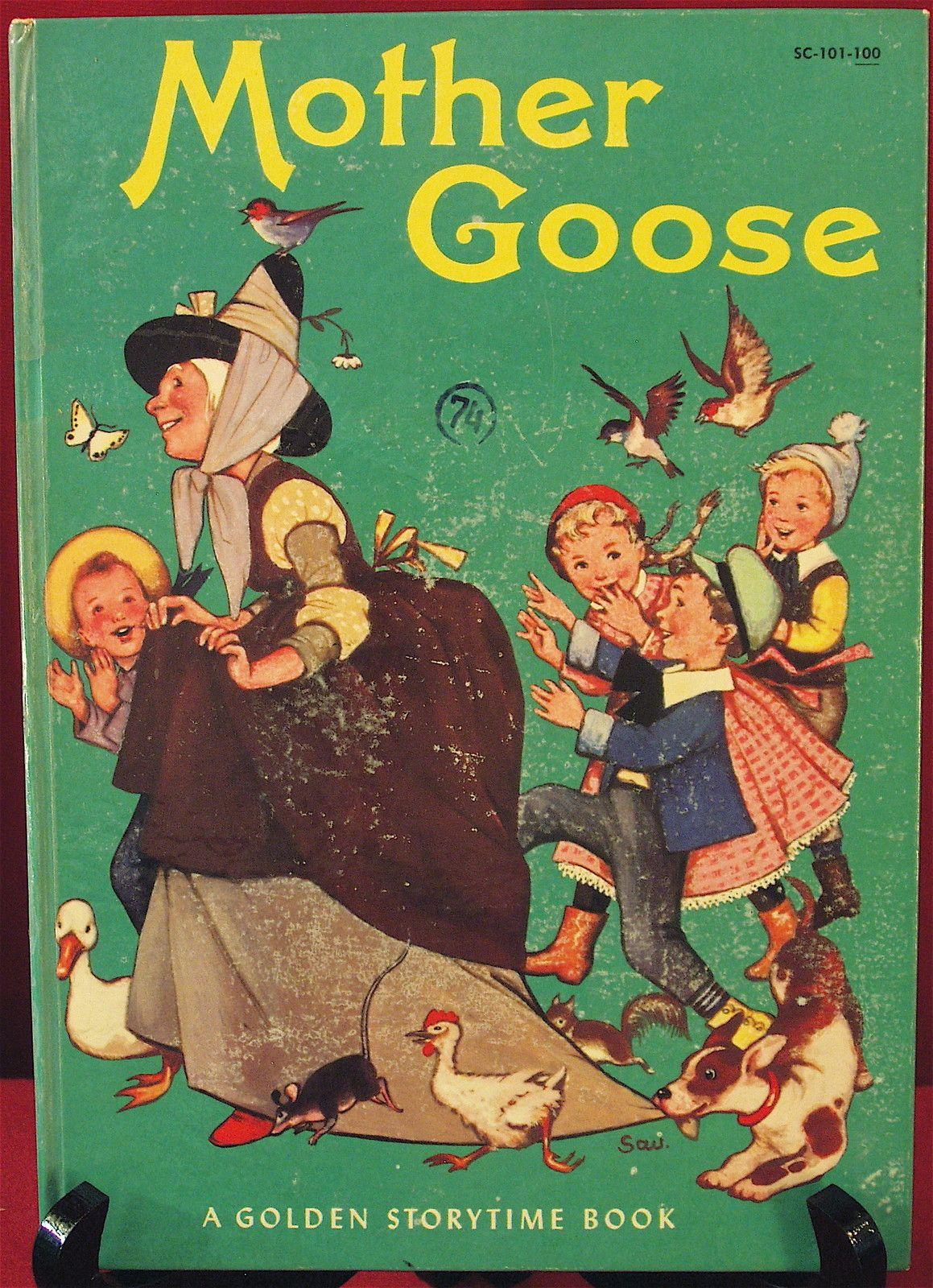 ''Mother GOOSE'', Simon and Schuster 1957. Illustrated by Adriana Mazza Saviozzi | eBay
