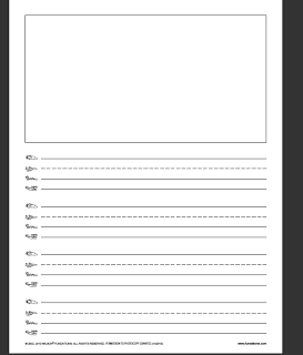 Handwriting With Fundations   Kindergarten writing paper ...