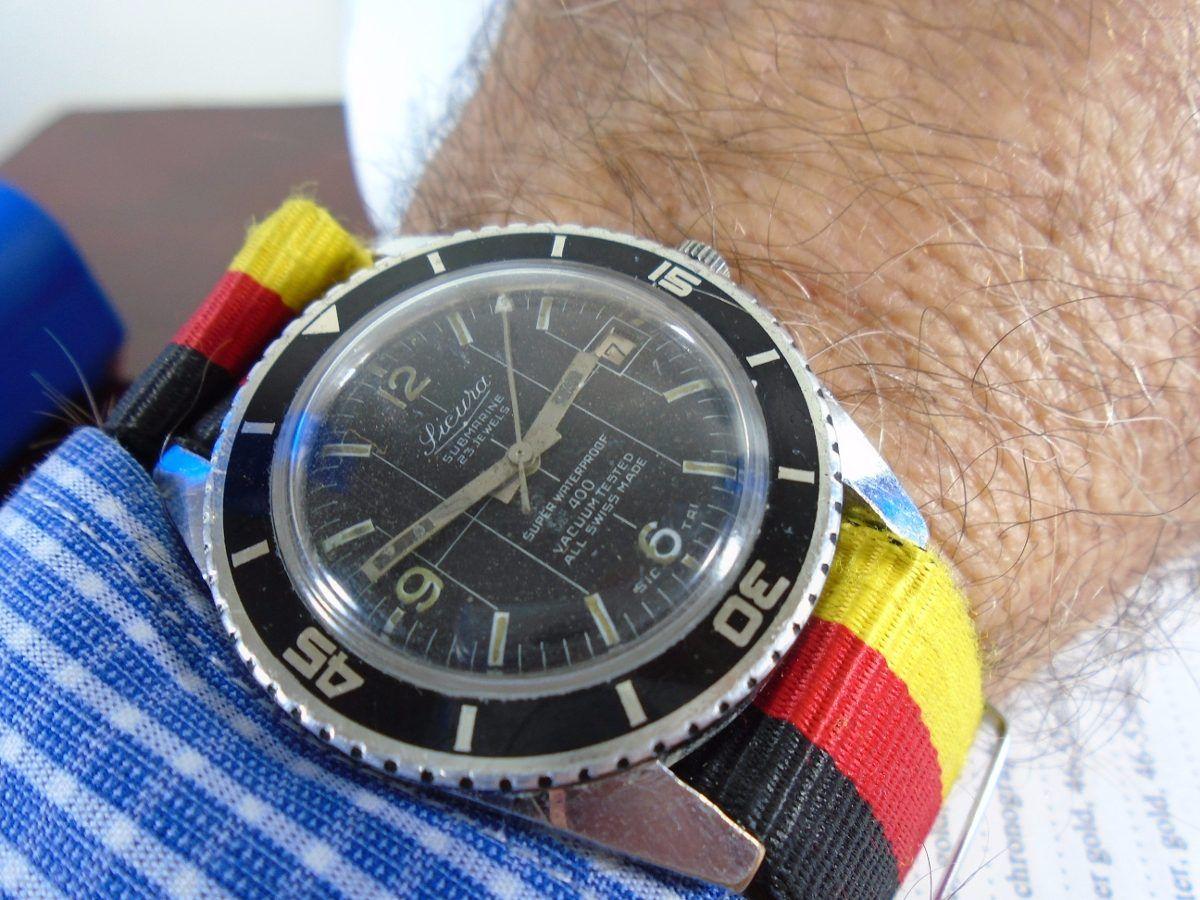 e90ab20f29a Relógio Sicura By Breitling Militar Antigo Raro Coleção - R  120