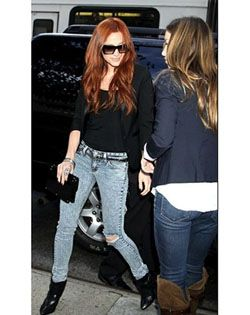 Her Jeans & her hair is pretty too.