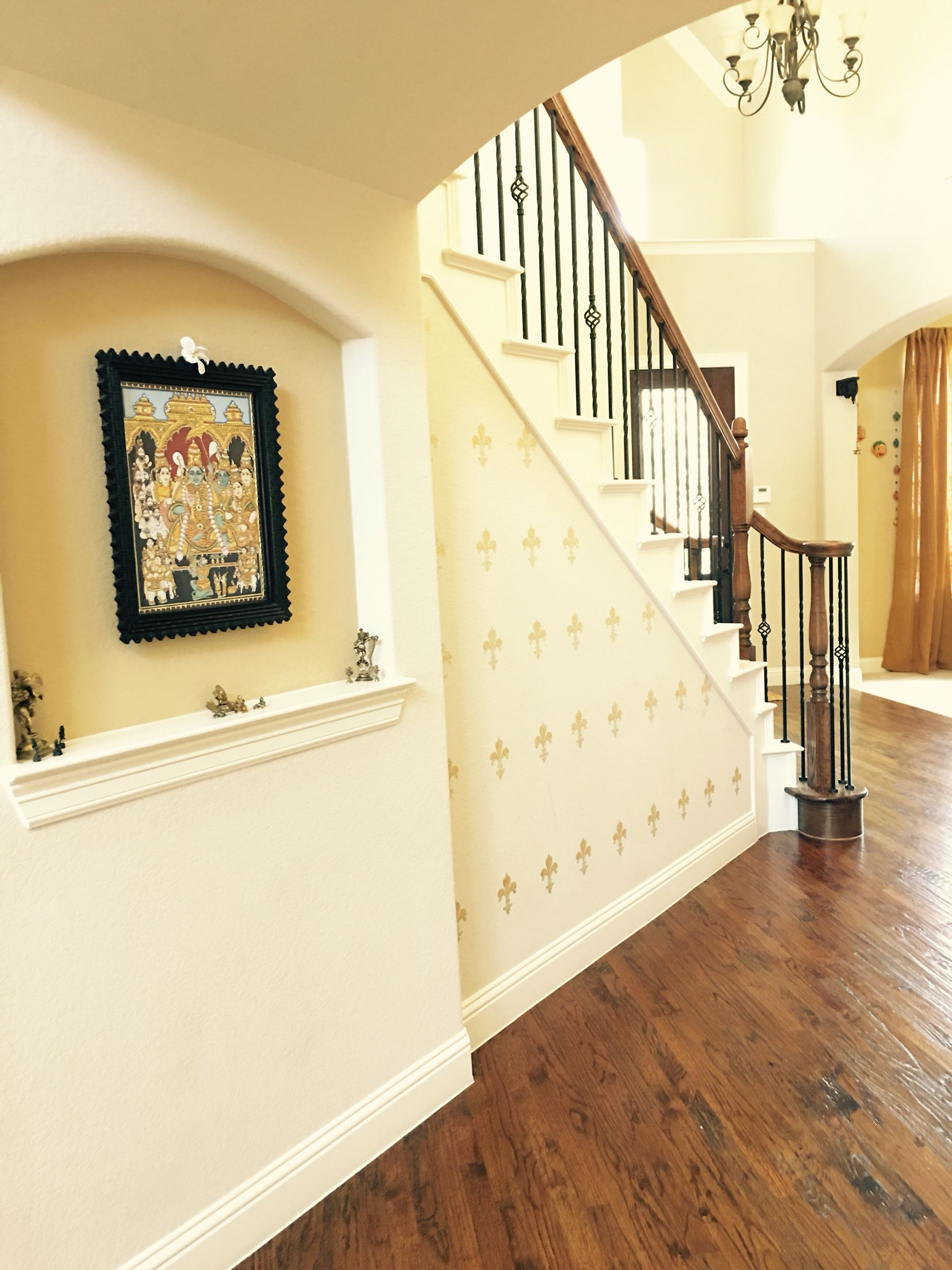 Wall stenciling entryway | My Home Editions | Pinterest | Walls ...