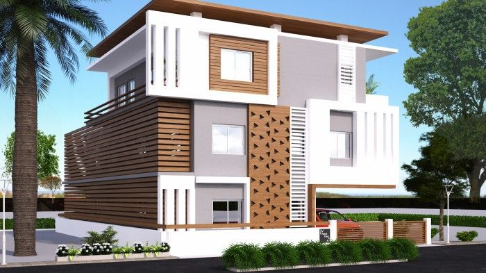 Home exterior design g 2 andhra client elevation Pictures of exterior home designs in india