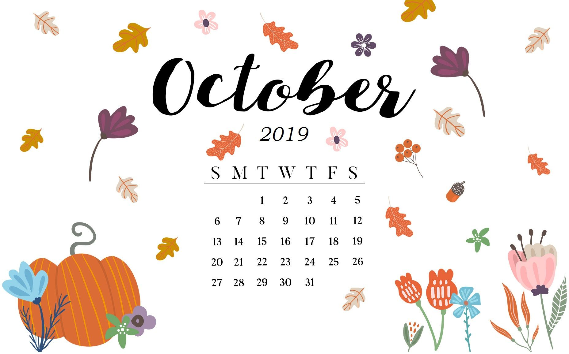 Floral November 2018 iPhone Calendar Iphone wallpaper