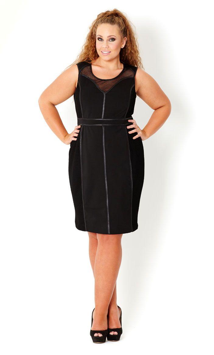 ba5c8af7fde CITY CHIC - SEXY MESH PANEL DRESS - Women s plus size fashion