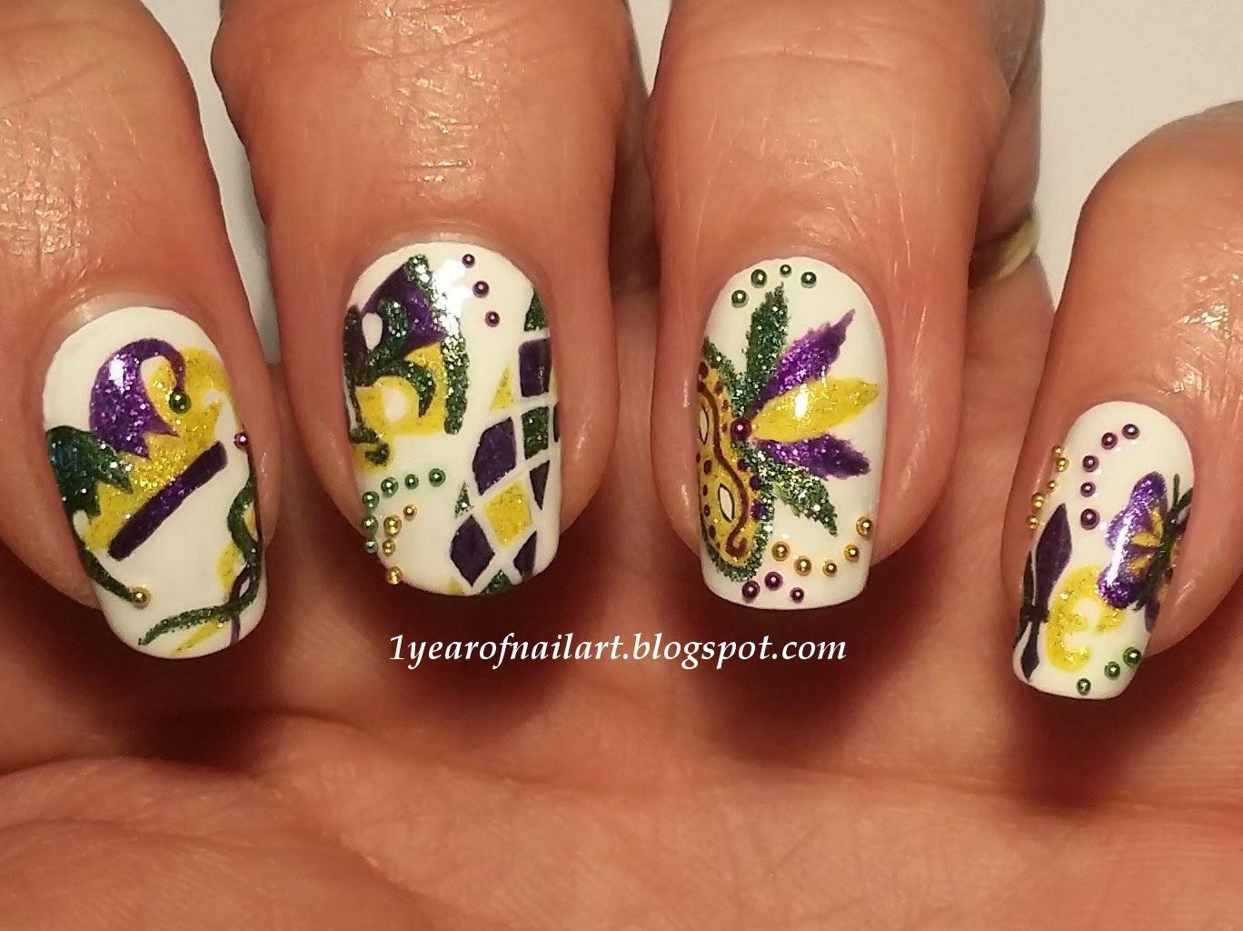 Mardi Gras/Carnival nails | NAILS | Pinterest | Carnival nails ...