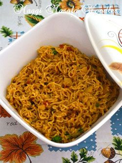 Maggi Masala Noodles recipe is made Indian style with spices