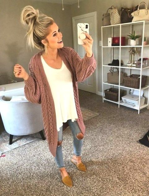 35 Comfy Casual Spring Outfits For Women - Thepinmag.com