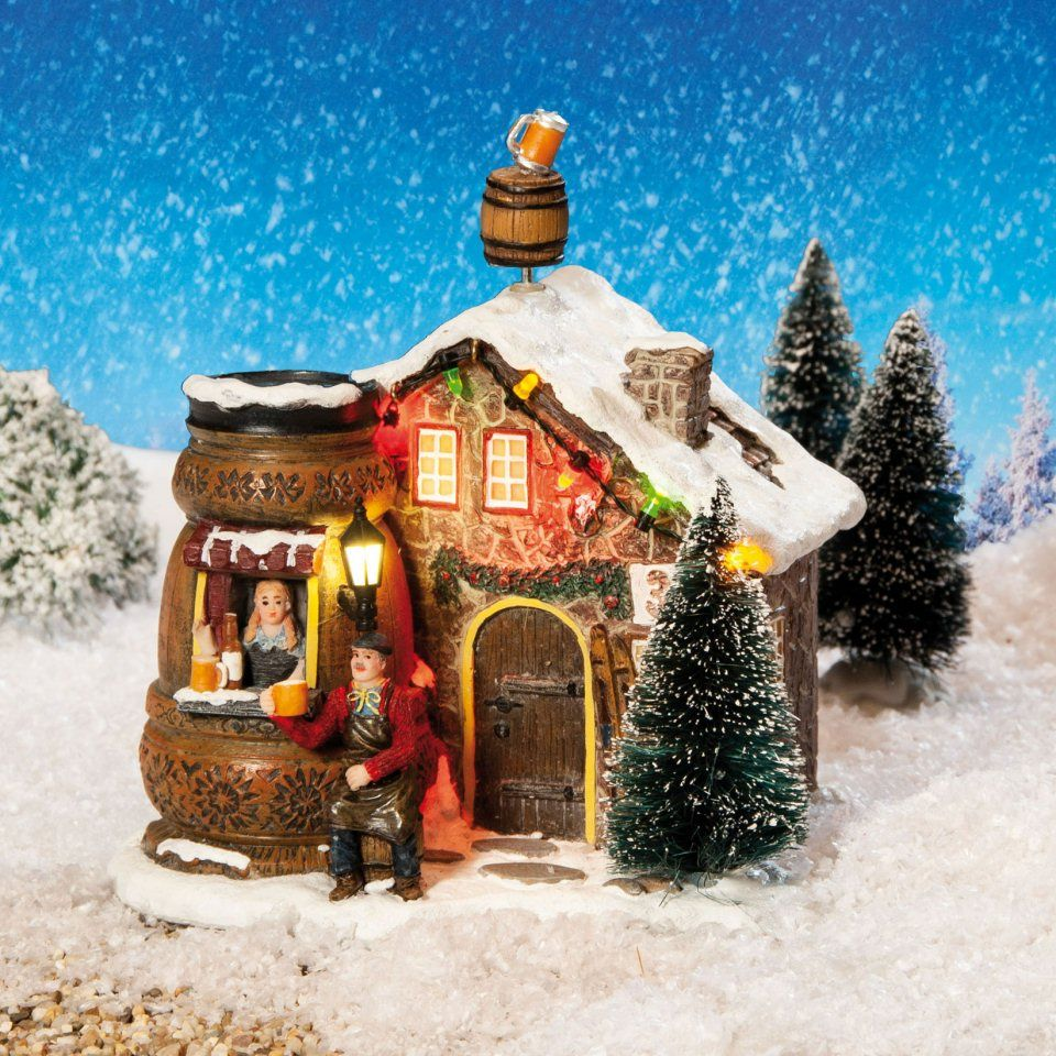 Beleuchtetes Weihnachtshaus