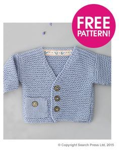 e0815522c Free knitting pattern for Windsor Cardigan baby sweater by .Susan ...