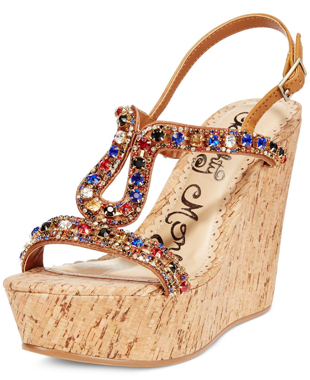 2246d601cc9b Naughty Monkey Chasing Rainbow Platform Wedge Sandals - Sandals - Shoes -  Macy s