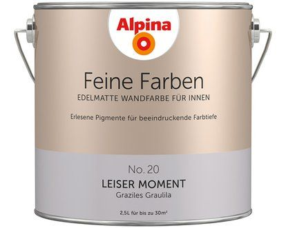 Alpina Feine Farben No 20 Leiser Moment Edelmatt 2 5 L Alpina Wandfarbe Wandfarbe Feine Farben
