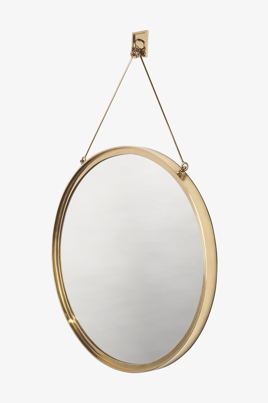 Latchet Wall Mounted Round Mirror 23 1 2 X 1 1 2 X 37 5 8 Mirror Round Mirrors Round Mirror Bathroom