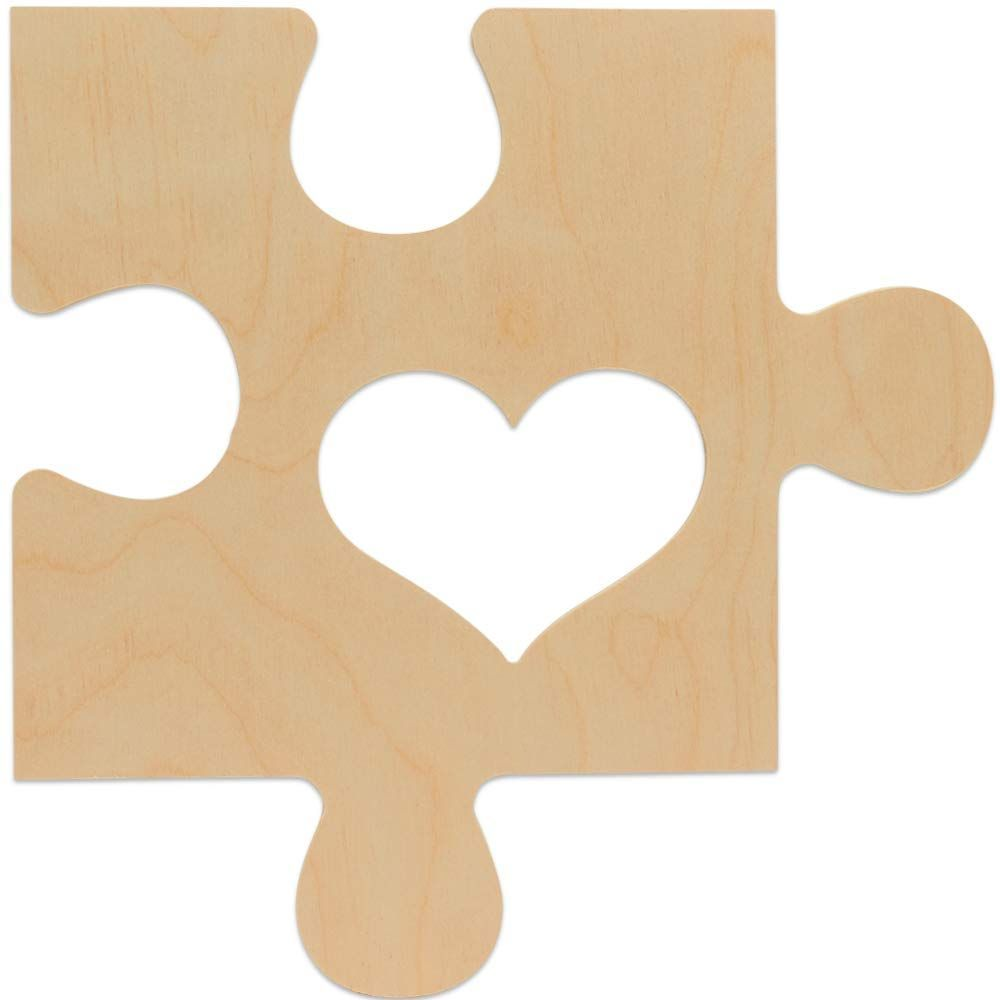 Unfinished Wood Puzzle Piece Picture Frame 12 X 12 Inch With 4x6 Picture Slot Connectable Timeline In 2020 Puzzle Piece Picture Frames Diy Decor Crafts Wood Puzzles