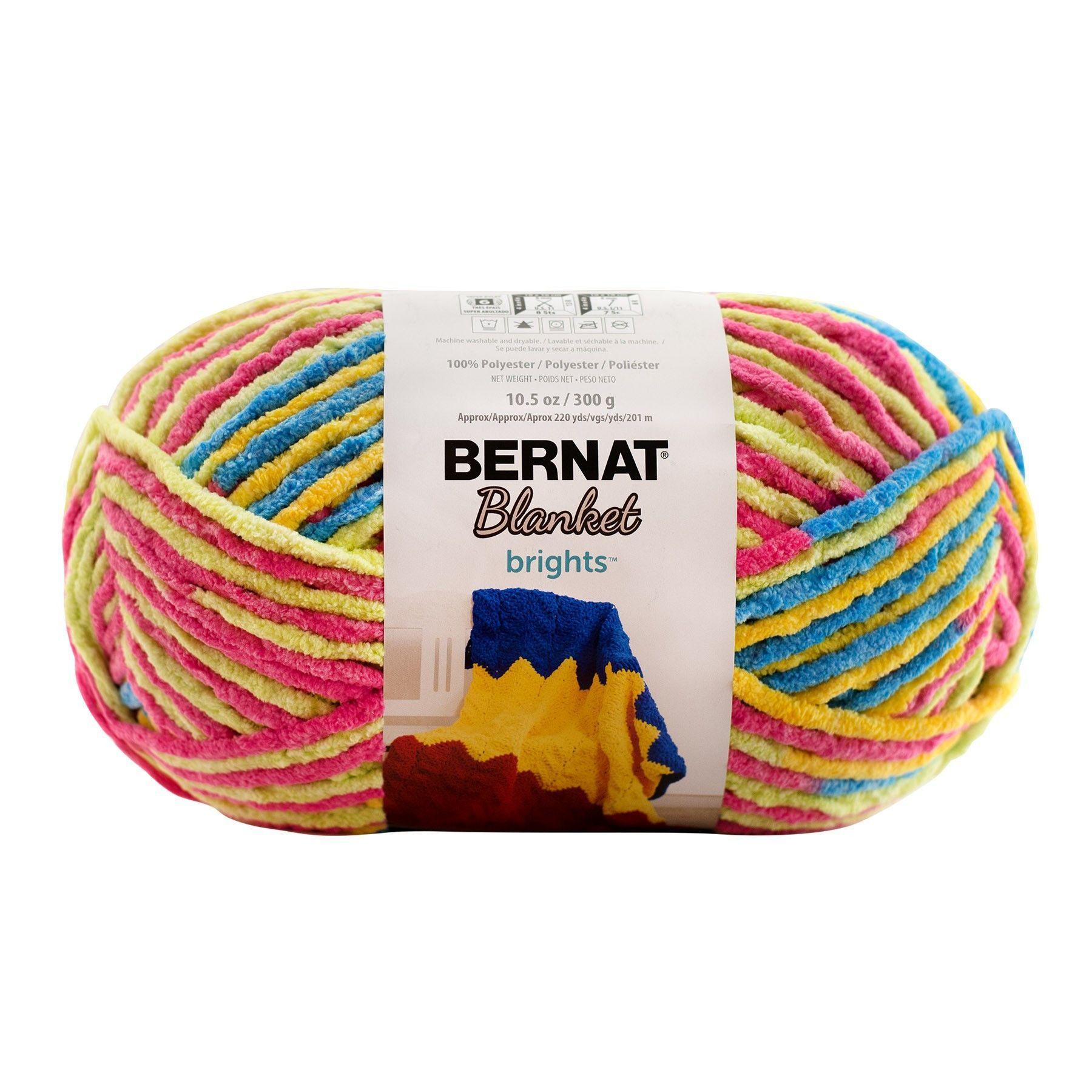 Bernat Baby Blanket Brights Yarn Sweet & Sour 300 Gram Skeins