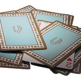 Tiffany & Co. playing cards - monogram.