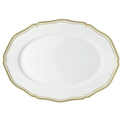 Raynaud Polka Gold Oval Platter