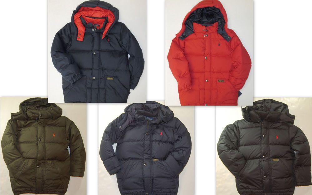 621bdb1ef Polo RALPH LAUREN Boys Jacket Size 7 Kids Down Fill Puffer Winter ...
