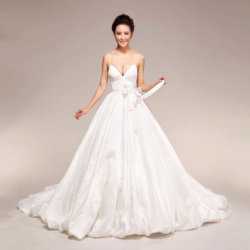 Halter Style Wedding Gowns: 2012 New Hepburn Simple Sling Halter Wedding Dress Value