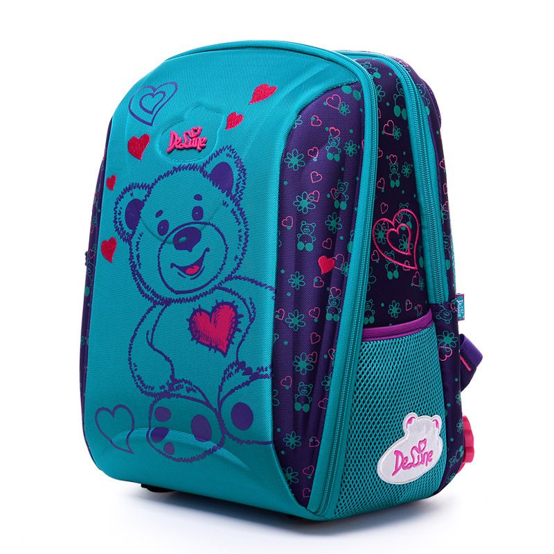 Delune 3D Embossed Girls Boys backpack 3-5 Class Owl Bear School ...