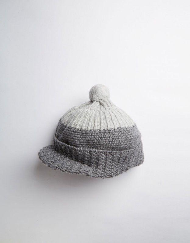 YMC Peak Knit Hat (grey)