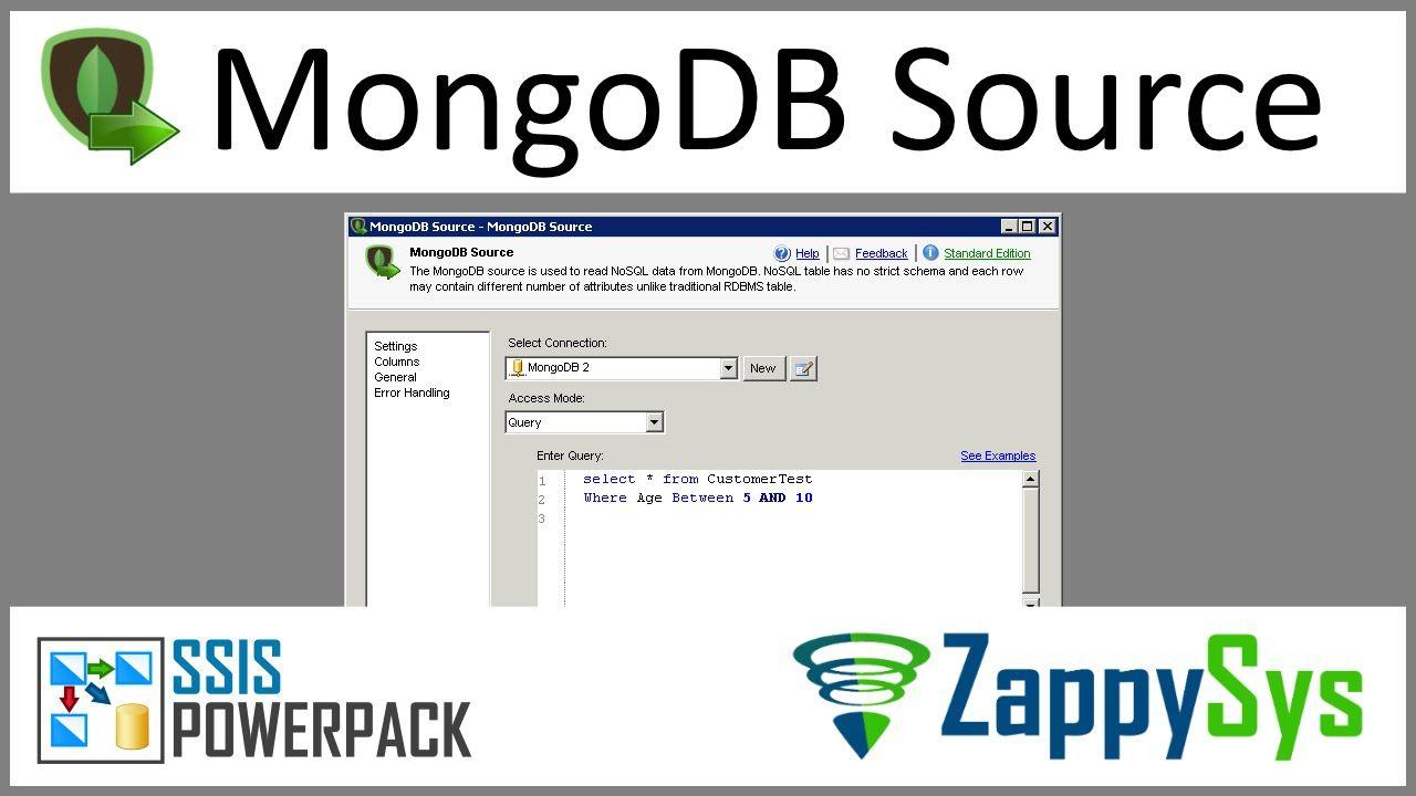 SSIS MongoDB Source - Extract Data from MongoDB Collection