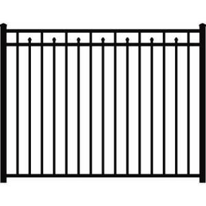 Backyard 54 In X 72 In Aluminum Fence Section 3 Rail
