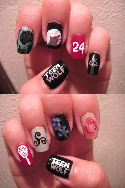 Teen Wolf nail art | Nail styles | Pinterest | Teen wolf, Wolf and Teen