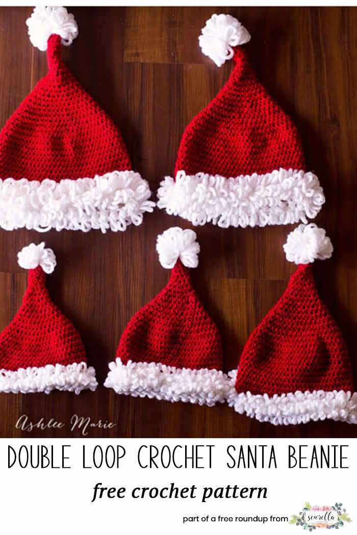 Crochet Last Minute Christmas Patterns | Santa hat, Free pattern and ...